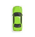 green cartoon car vector image