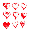 hand drawn heart icon design vector image vector image