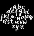 handwritten modern dry brush lettering vector image vector image