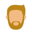 head man with beard without face vector image vector image