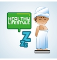 Healthy lifestyle icon pixel concept Flat vector image