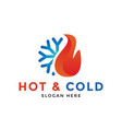 hot and cold logo icon design template vector image vector image