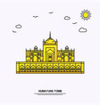 humayuns tomb monument poster template world vector image