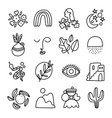 little modern style outline collection set vector image vector image