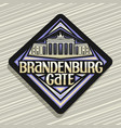 logo for brandenburg gate vector image vector image