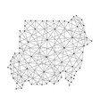 map of sudan from polygonal black lines and dots vector image vector image