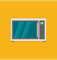 microwave icon in flat style vector image vector image