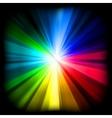 multicolor burst vector image vector image