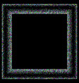 multicolored confetti stars on a black background vector image