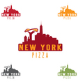 new york pizza concept design template vector image vector image
