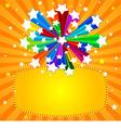 rainbow star banner vector image vector image