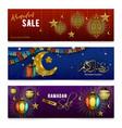ramadan kareem realistic banners vector image vector image