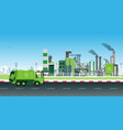 recycling of factory waste vector image