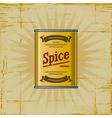 Retro Spice Can vector image