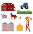 rural ranch design elements set vector image vector image