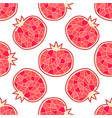 seamless pomegranate pattern vector image vector image