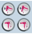 Set of professional blow hairdryer icons vector image vector image
