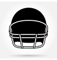 Silhouette symbol of American football helmet vector image vector image