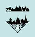 skylines tourist town trier in germany vector image vector image
