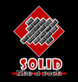 solid like a rock abstract red style flat logo vector image vector image