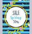 spring sale promotion marketing flowers banner vector image