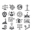strategy and management icons vector image vector image