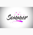 summer handwritten word font with vibrant violet vector image