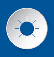 sunny weather - simple blue icon on white button vector image