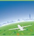 taipei skyline flight destination vector image