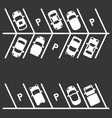 top view parking lot on white background vector image vector image