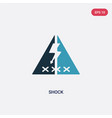 two color shock icon from signs concept isolated vector image