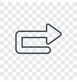 u turn arrow concept linear icon isolated on vector image