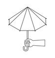 umbrella weather symbol vector image vector image