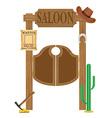 doors in western saloon 02 vector image