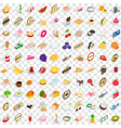 100 chef icons set isometric 3d style vector image vector image