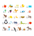 ABC Learn to read Children alphabet with cute vector image