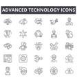 advanced technology line icons editable stroke vector image