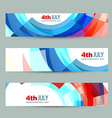 american independence day header vector image vector image