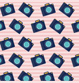 analog camera pattern set on pop art linear color vector image