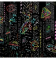 Background City Nightlife vector image vector image