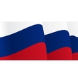 Background with waving Russian Flag vector image vector image