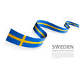 banner with sweden flag colors vector image