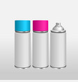 blank aluminium spray can template vector image