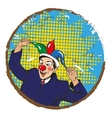 businessman clown in jester vector image