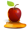 caramel apple vector image vector image