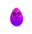 cartoon purple easter egg holiday symbol isolated vector image vector image