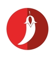 chili pepper culinary food red circle vector image