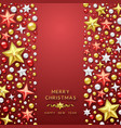 christmas background with shining stars vector image vector image