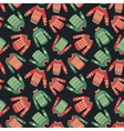 christmas sweater pattern vector image vector image