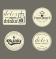 collection of retro detox drinks vector image vector image
